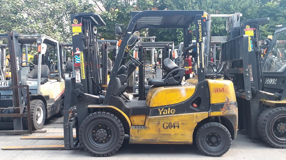 YALE FORKLIFT COUNTER GTP25RK-TF450, GASOLINE, 2.5 TON