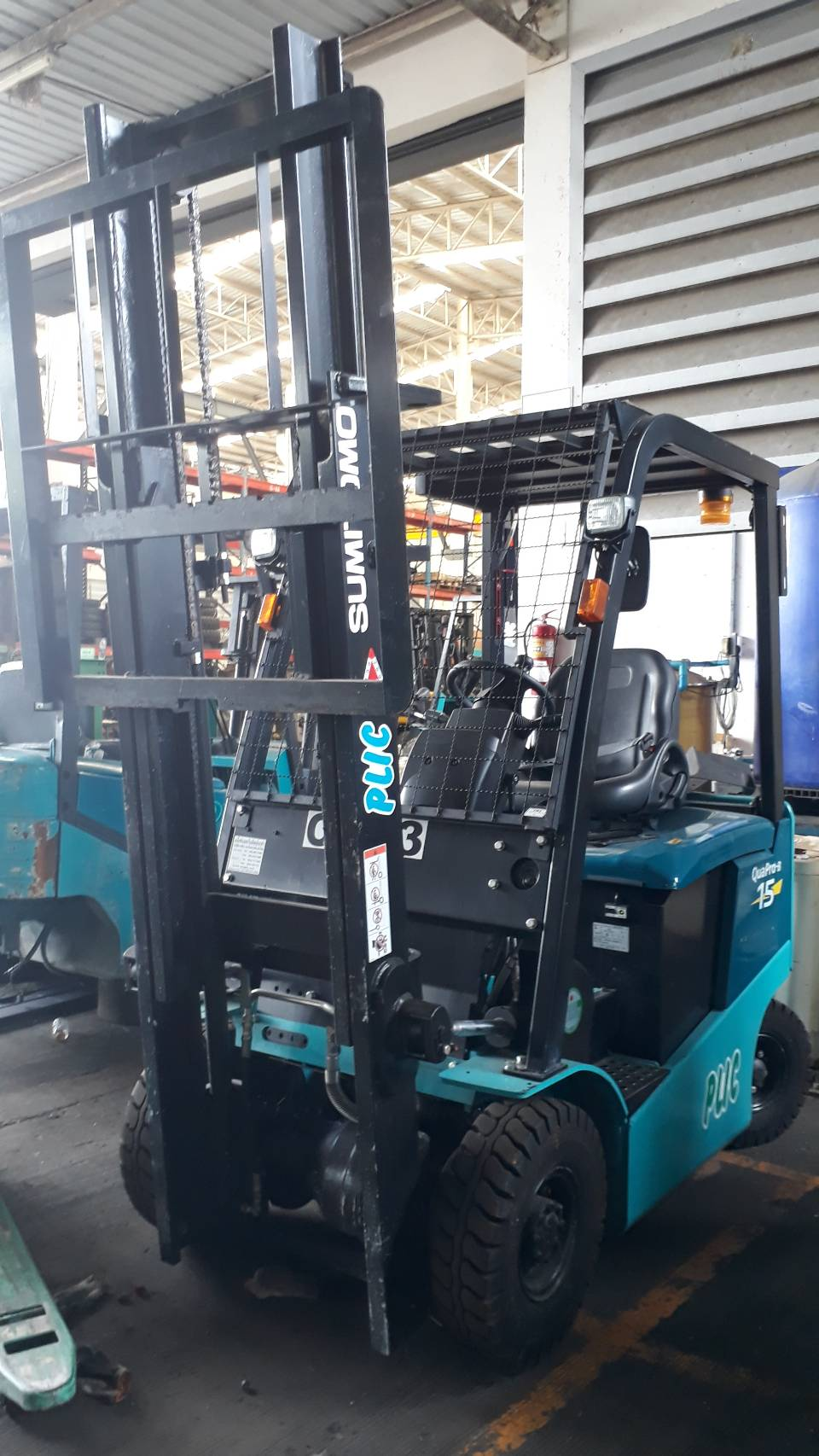 SUMITOMO FORKLIFT COUNTER 8FB15PXIII-V300, BATTERY, 1.5 Ton