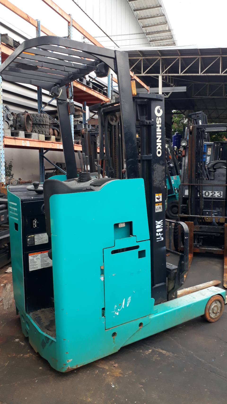 SHINKO FORKLIFT REACH 8FBR15JX - V3035, BATTERY, 1.5 Ton