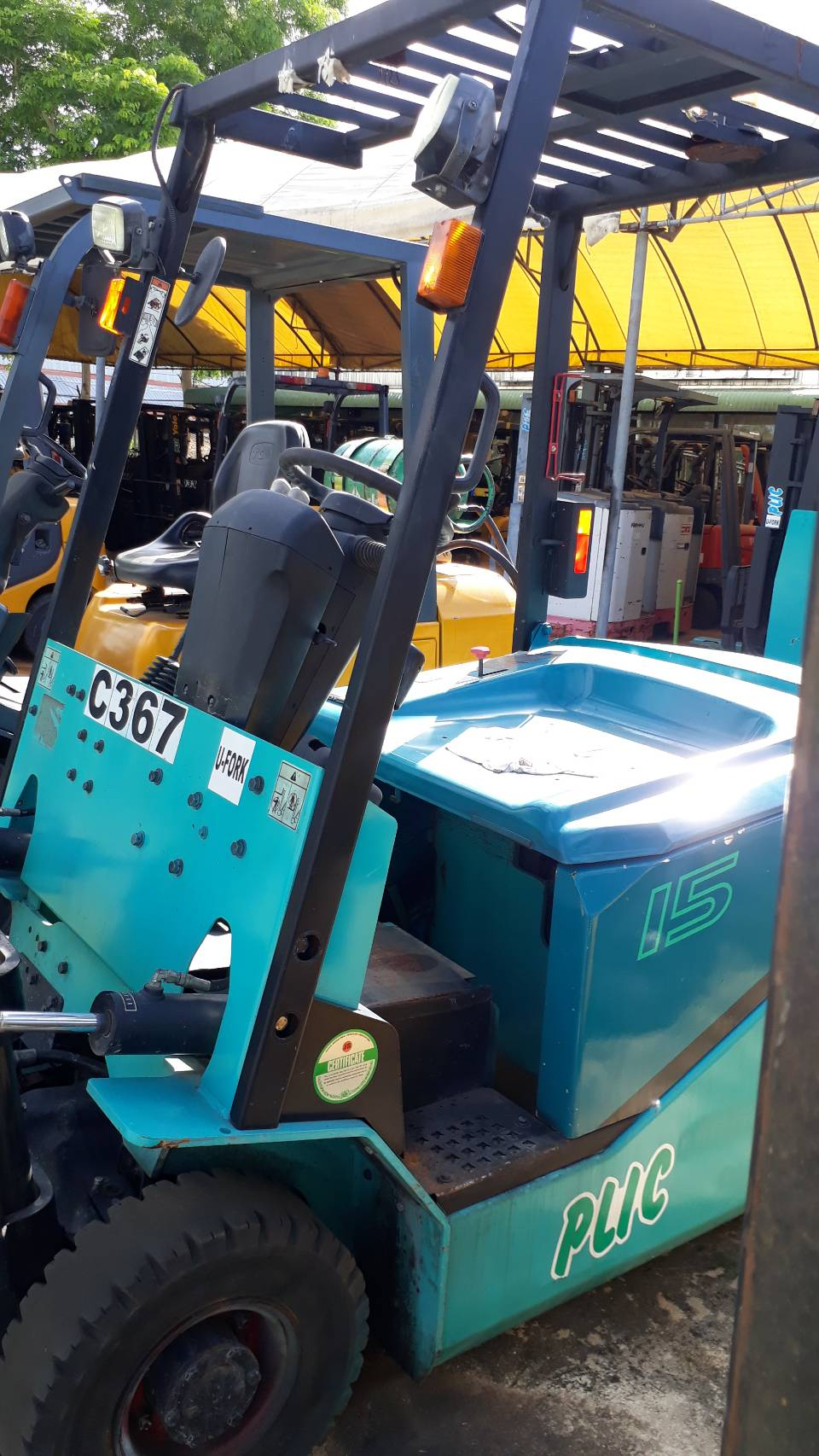 SUMITOMO FORKLIFT COUNTER 8FB15PX-V300, BATTERY, 1.5 Ton