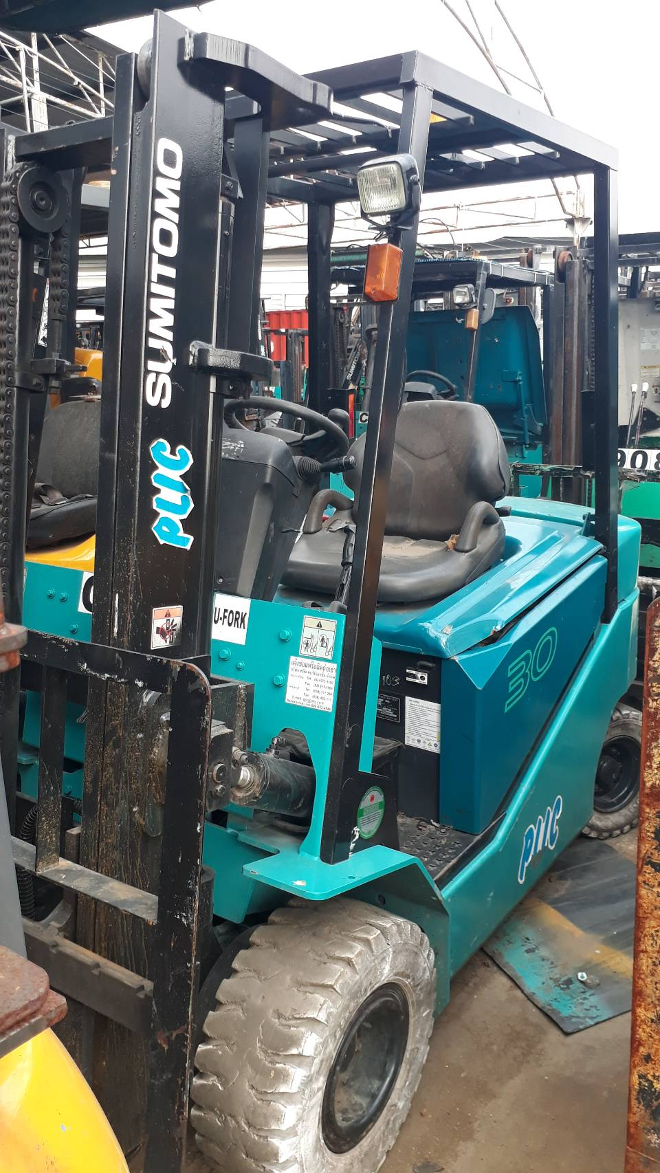 SUMITOMO FORKLIFT COUNTER 8FB30PZX-V300, BATTERY, 3 TON